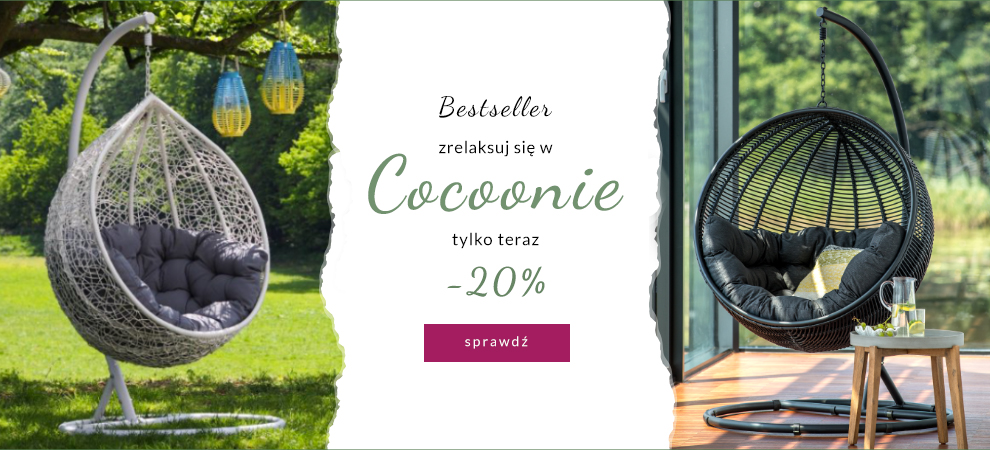 9design: 20% rabatu na fotele wiszące Cocoon                         title=