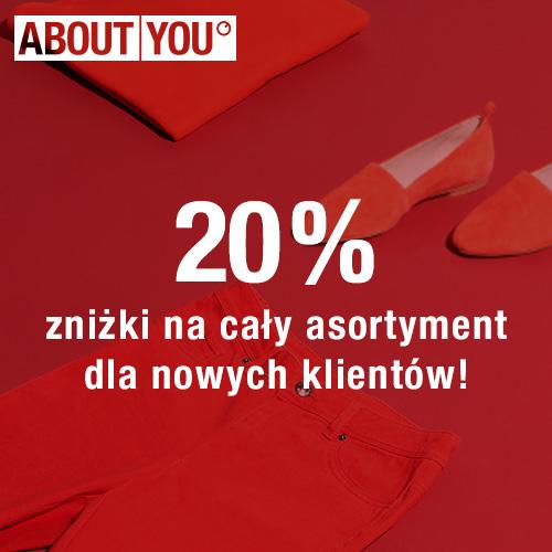About You: 20% zniżki na wszystko dla nowych klientów