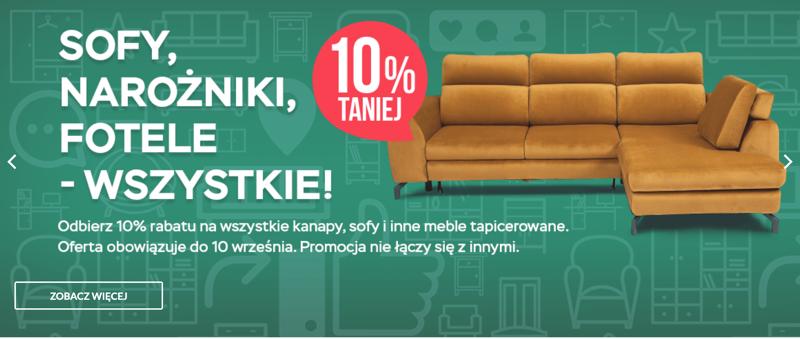 Abra Meble: 10% rabatu na sofy, narożniki i fotele                         title=