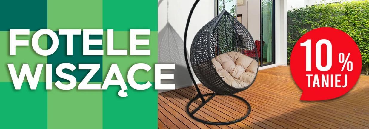Abra Meble Abra Meble: 10% zniżki na fotele wiszące na taras i do ogrodu