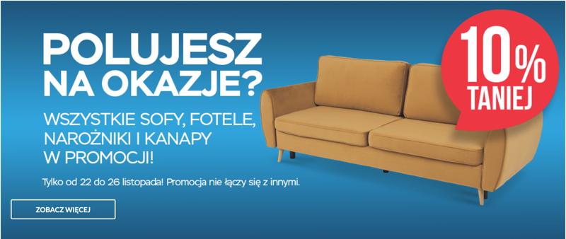 Abra Meble: 10% rabatu na wszystkie sofy, fotele, narożniki i kanapy                         title=
