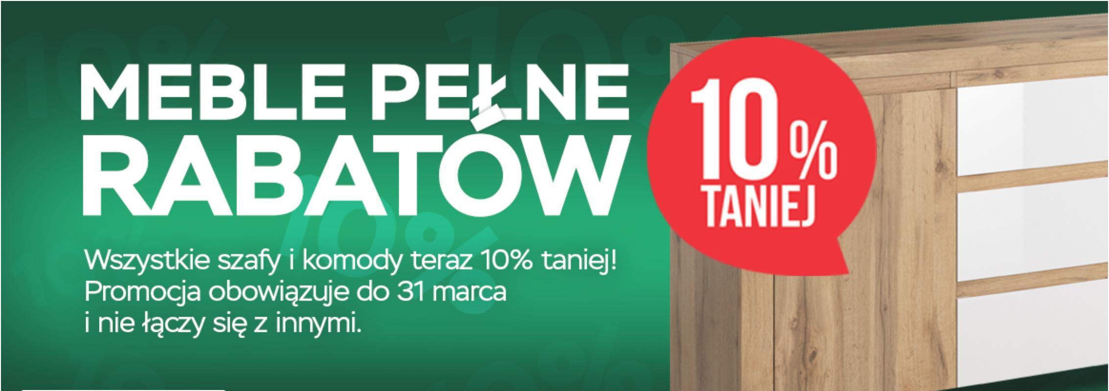 Abra Meble Abra Meble: 10% zniżki na szafy i komody