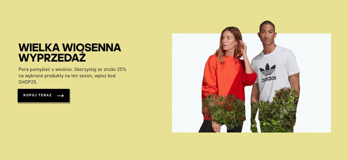 Adidas: 25% zniżki na odzież, obuwie oraz akcesoria sportowe - wiosenna wyprzedaż