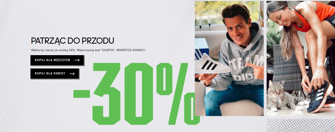 Adidas: 30% rabatu na odzież i obuwie sportowe