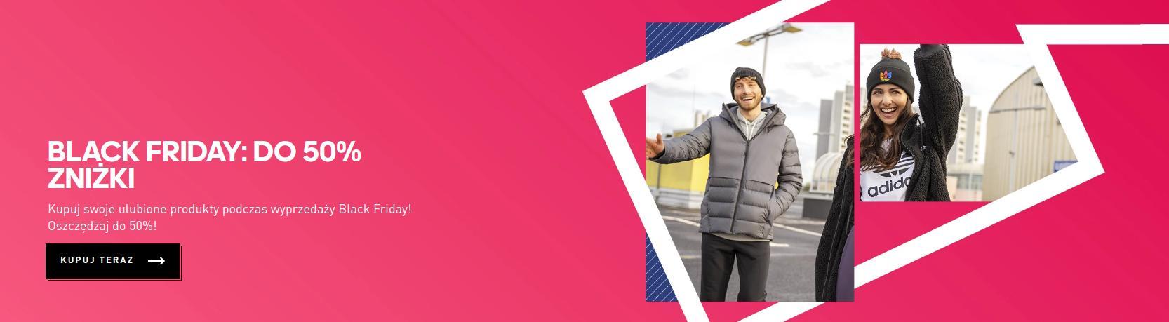 Adidas: Black Friday do 50% rabatu na buty, odzież i akcesoria sportowe Adidas