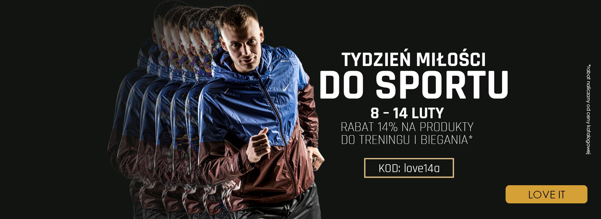 Adrenaline: Tydzień Miłości do Sportu 14% rabatu na produkty do treningu i biegania