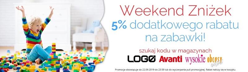 Ale Maluch: Weekend Zniżek dodatkowe 5% rabatu na zabawki dla dzieci