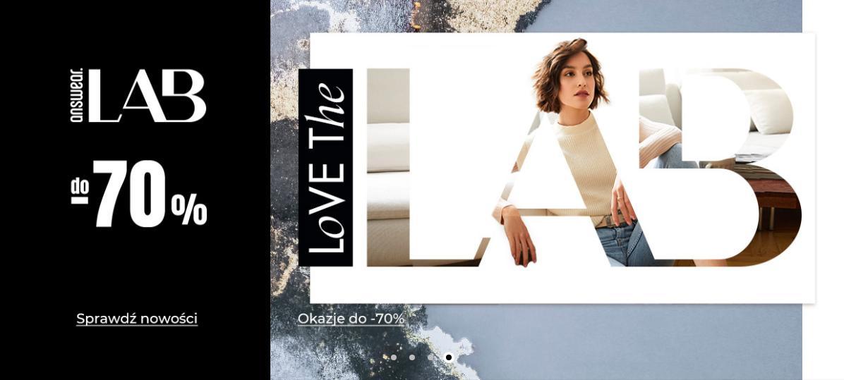 Answear: wyprzedaż do 70% rabatu na odzież damską, męską i dziecięcą marki Answear Lab