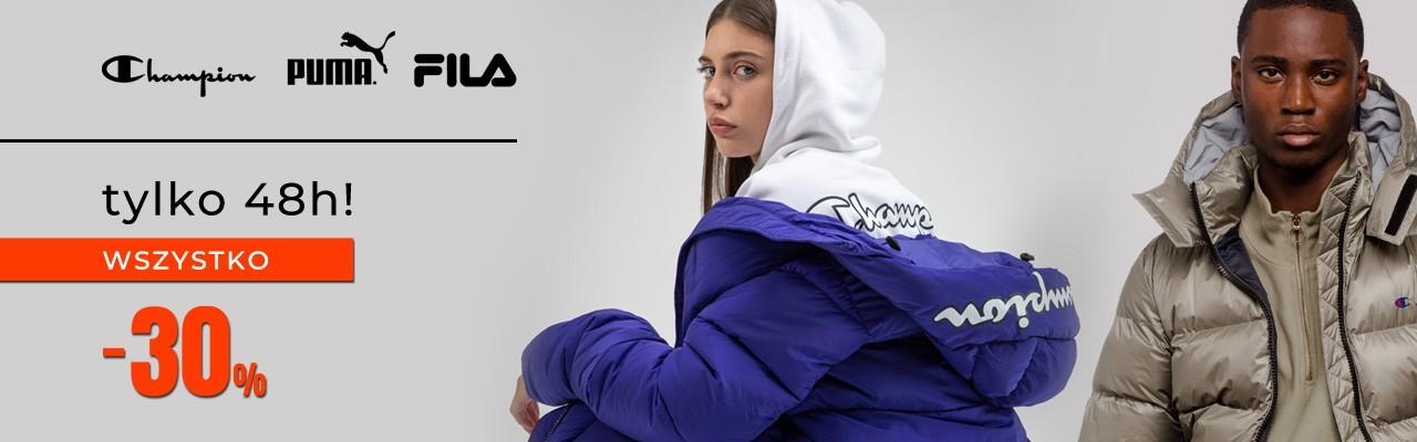 Answear: 30% zniżki na odzież damską, męską i dziecięcą marek Puma, Fila, Champion