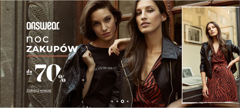 Answear: do 70% rabatu na odzież damską i męską