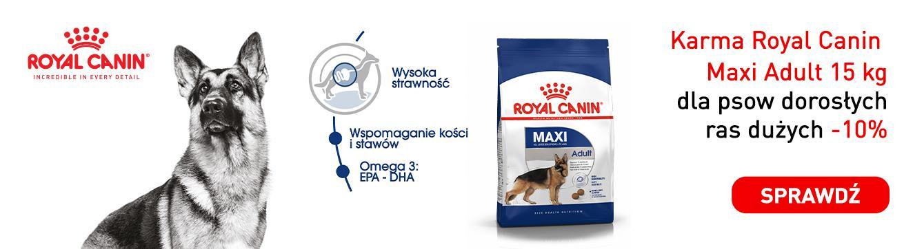 Apetete: 10% zniżki na karmę Royal Canin Maxi Adult 15kg dla psów dorosłych ras dużych