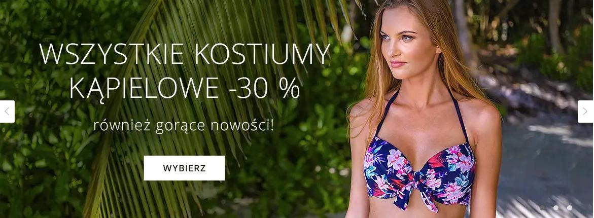Astratex: 30% rabatu na wszystkie kostiumy kąpielowe                         title=
