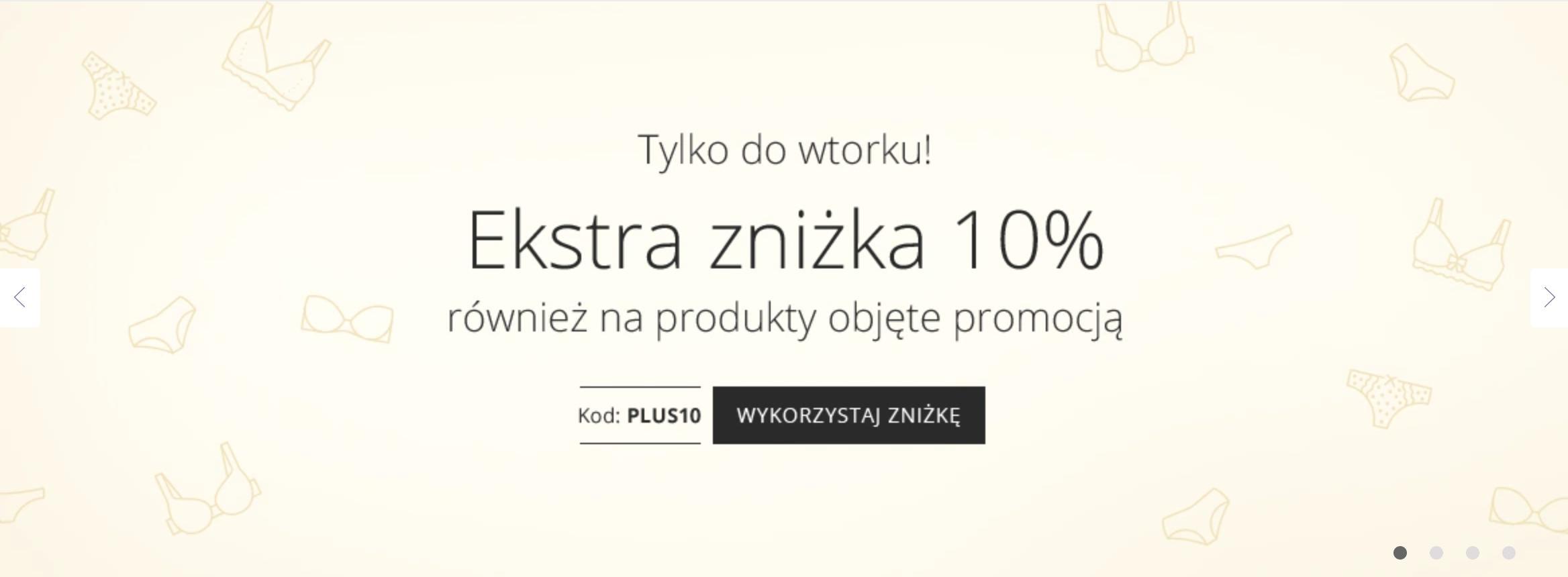 Astratex Astratex: extra 10% zniżki na bieliznę, również objętą promocją