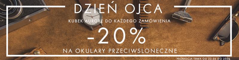 Aurore: 20% zniżki na okulary przeciwsłoneczne