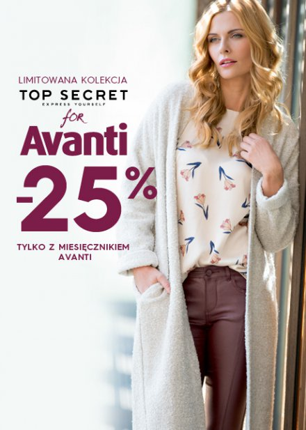 Top Secret: 25% zniżki na limitowaną kolekcjęz magazynem Avanti                         title=