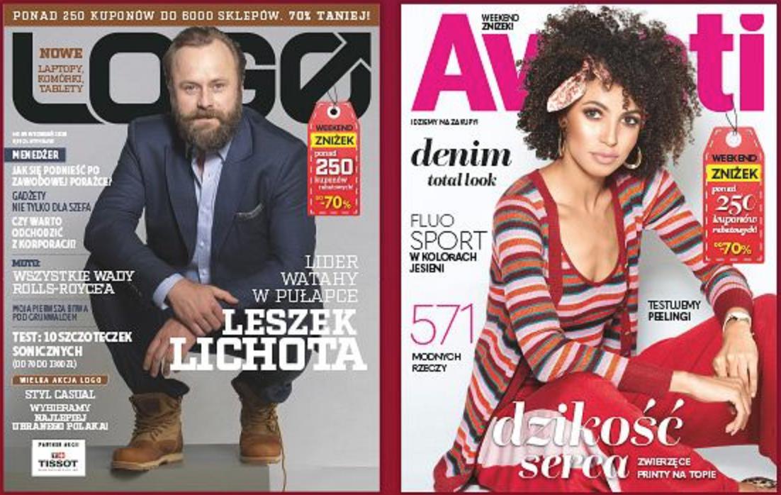 Weekend Zniżek z magazynami Avanti i Logo w całej Polsce 31 sierpnia - 2 września 2018