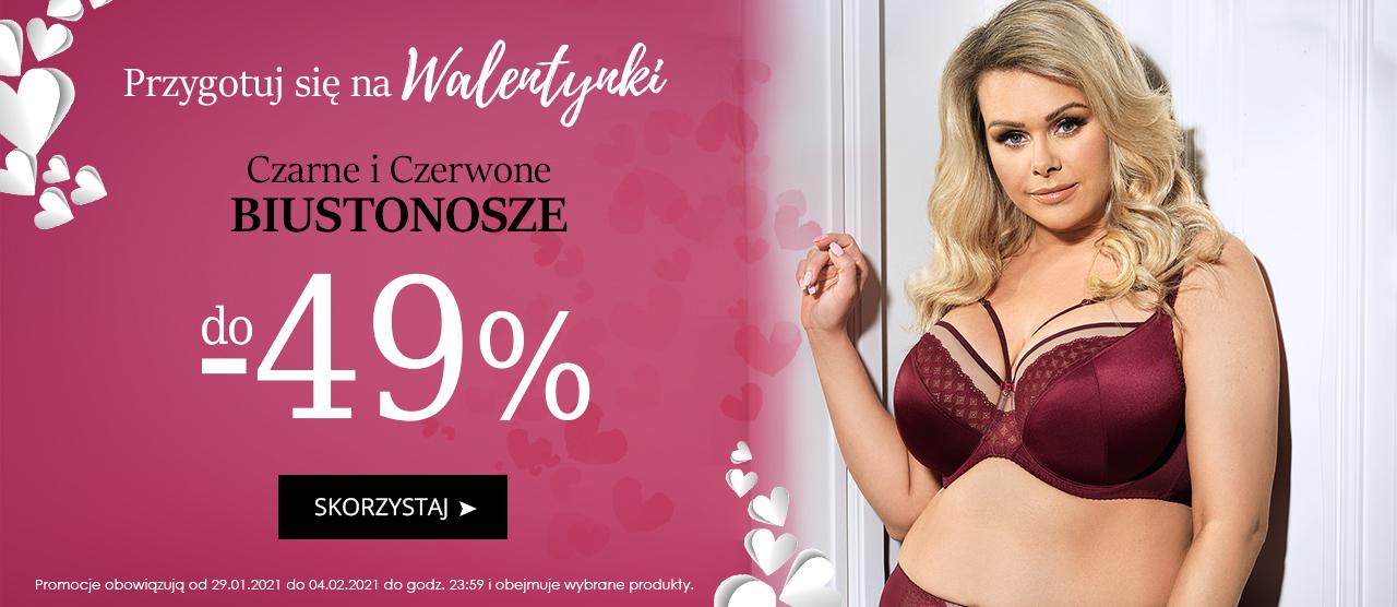 Avaro: do 49% zniżki na czarne i czerwone biustonosze - prezent na Walentynki
