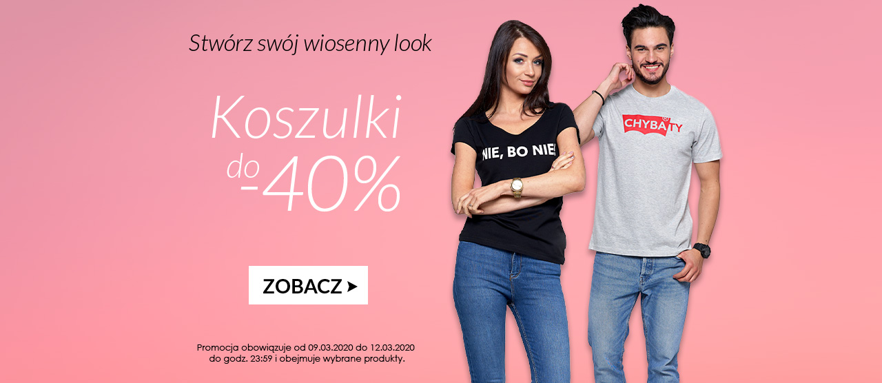 Avaro: do 40% rabatu na koszulki, topy, t-shirty, bluzki damskie i męskie                         title=