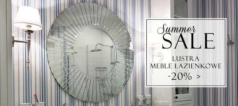 BBHome: wyprzedaż 20% zniżki na lustra i meble łazienkowe