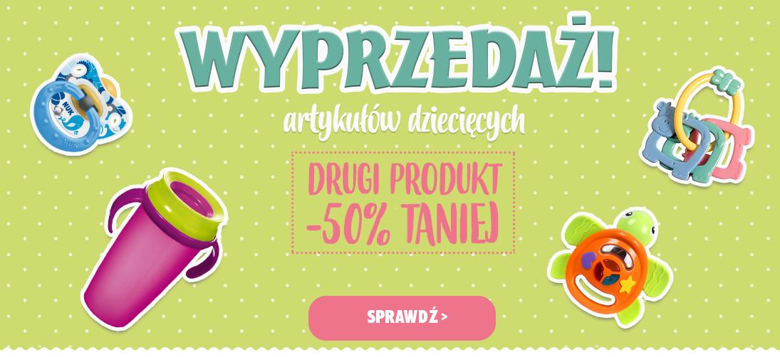 Bddziecko: wyprzedaż 50% zniżki zniżki na drugi produkt z artykułów dziecięcych