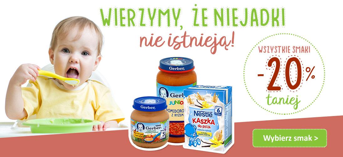 Bddziecko: 20% zniżki na produkty Nestle, Gerber, Bobo Frut