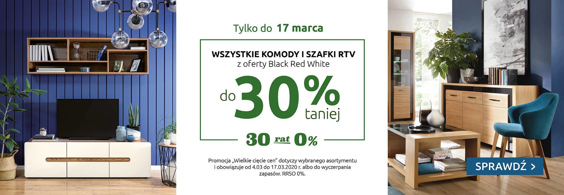 Black Red White: do 30% zniżki na wszystkie komody i szafki RTV