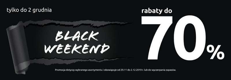 Black Red White: Black Weekend do 70% zniżki na wybrany asortyment do domu, do salonu, kuchni i łazienki                         title=