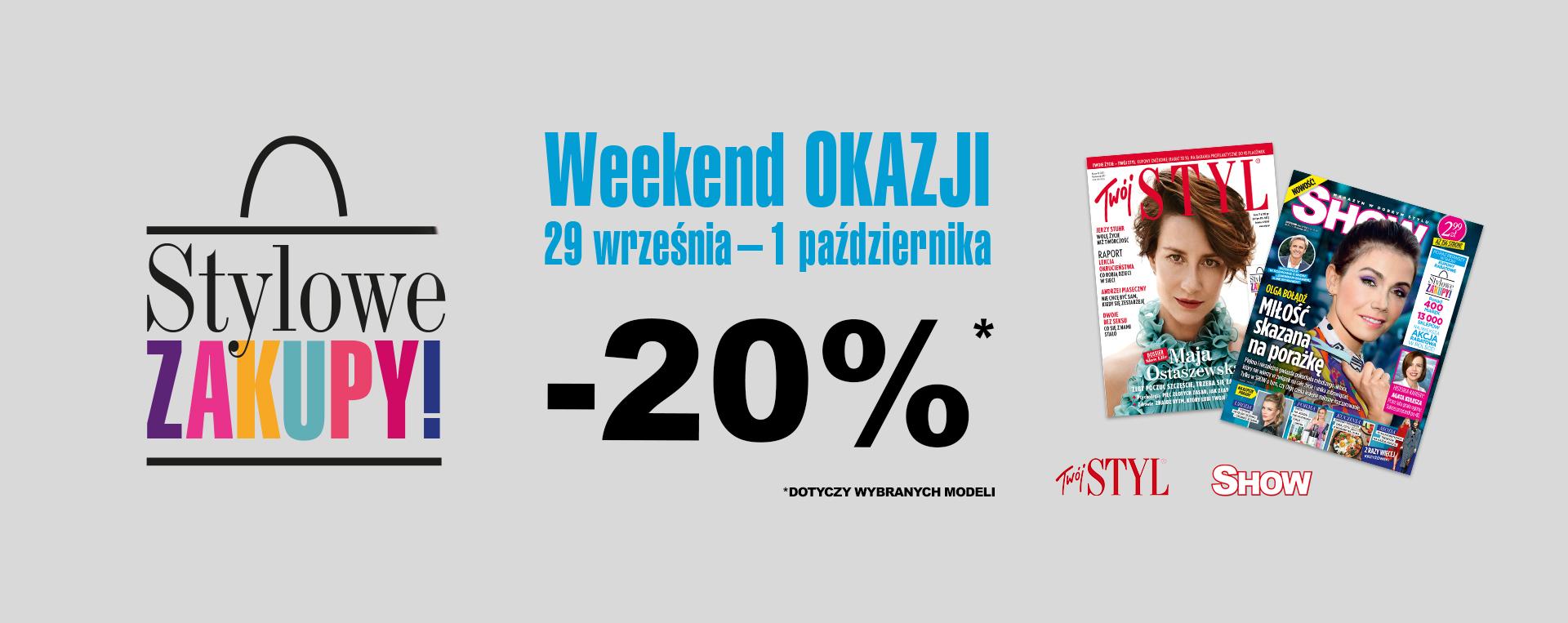 Badura: weekend zniżek 20% rabatu na wybrane modele obuwia