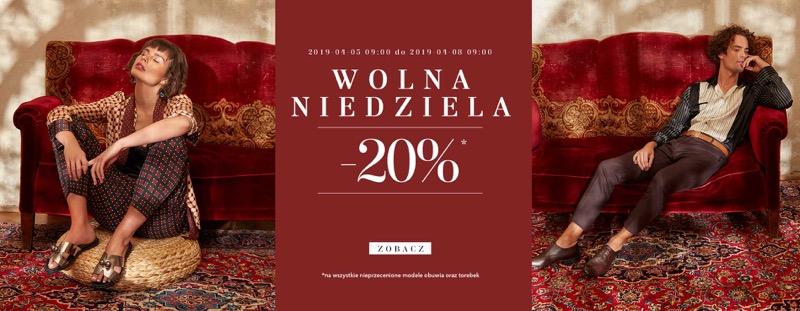 Badura: 20% zniżki na wszystkie nieprzecenione modele obuwia i torebek