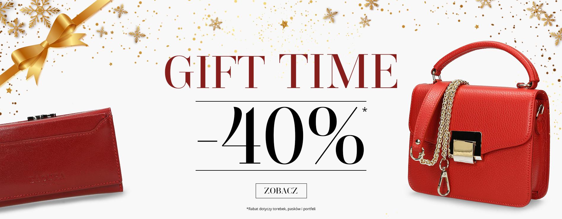 Badura: Gift Time 40% zniżki na torebki, paski, portfele