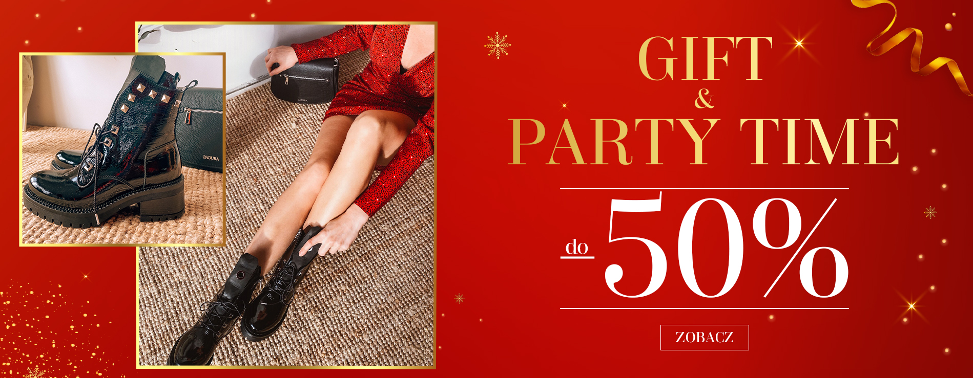 Badura: Gift&Party Time do 50% zniżki na buty damskie i męskie oraz torebki