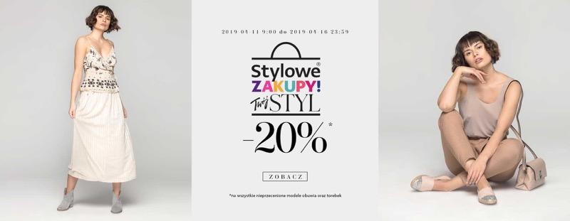 Badura: Stylowe Zakupy 20% rabatu na wszystkie nieprzecenione modele obuwia i torebek
