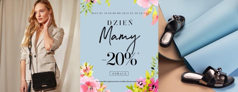Badura: z okazji Dnia Matki 20% rabatu na wszystkie nieprzecenione modele obuwia i torebek