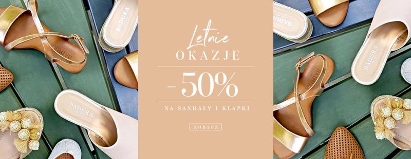 Badura: 50% zniżki na sandały i klapki damskie oraz męskie