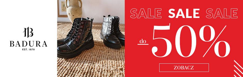 Badura: wyprzedaż do 50% zniżki na buty damskie, męskie oraz torebki