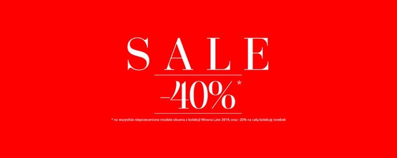 Badura: wyprzedaż 40% rabatu na wszystkie nieprzecenione modele obuwia