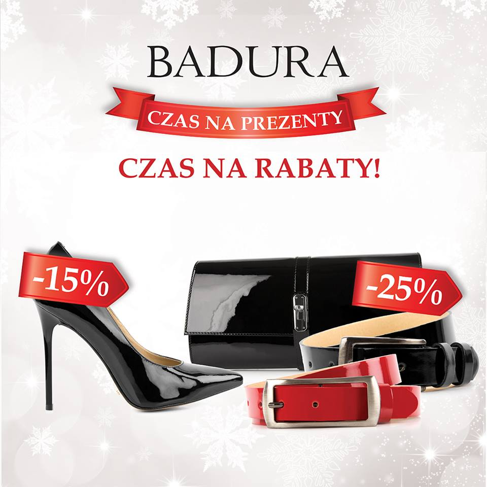 Badura: 15% zniżki na buty, 25% zniżki na torebki i paski
