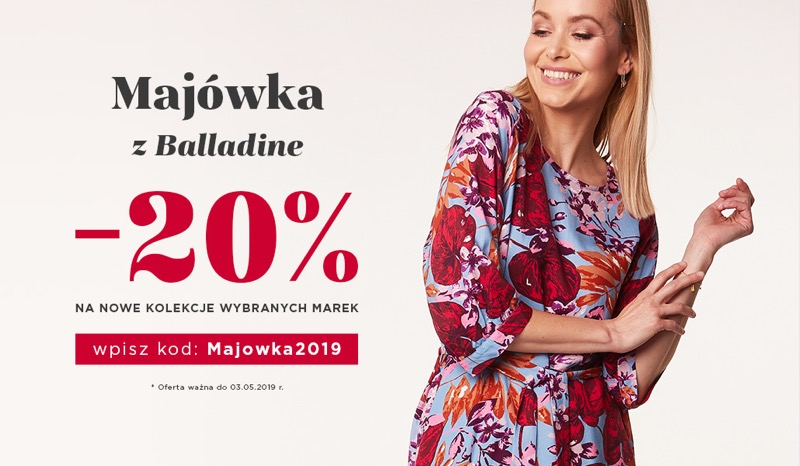 Balladine: 20% rabatu na nowe kolekcje damskie wybranych marek
