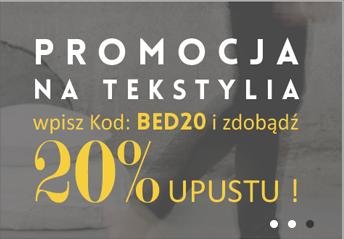 Barcelona Concept: 20% promocja na tekstylia