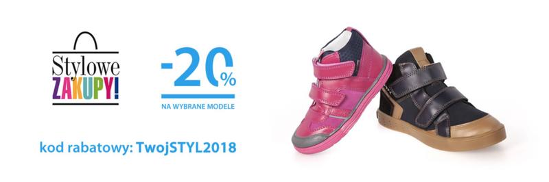 Bartek: 20% rabatu na wybrane modele obuwia dla dzieci