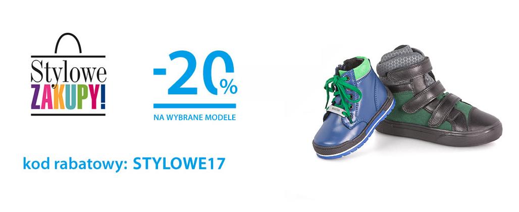 Bartek: weekend zniżek 20% rabatu na wybrane modele obuwia dla dzieci
