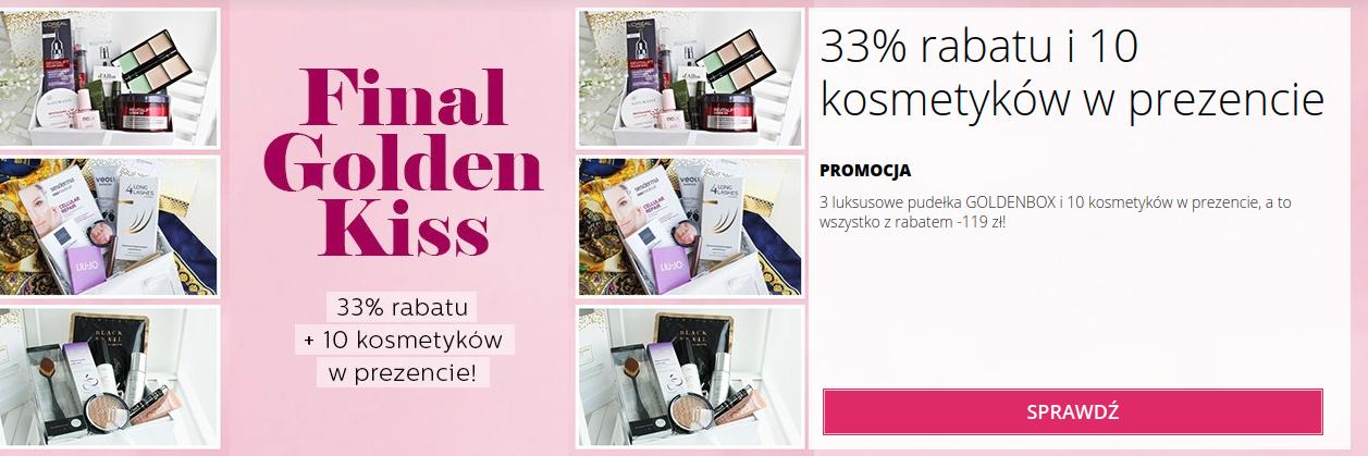 BeGLOSSY: 33% rabatu na 3 luksusowe pudełka Goldenbox i 10 kosmetyków w prezencie