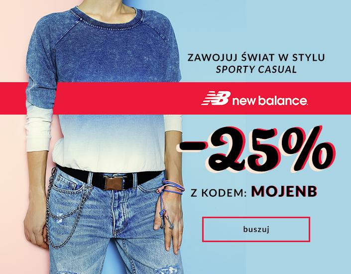 Be Jeans: 25% zniżki na buty marki New Balance