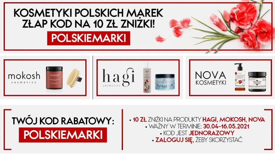 Bee.pl Bee.pl: 10 zł zniżki na kosmetyki polskich marek mokosh, hagi oraz nova
