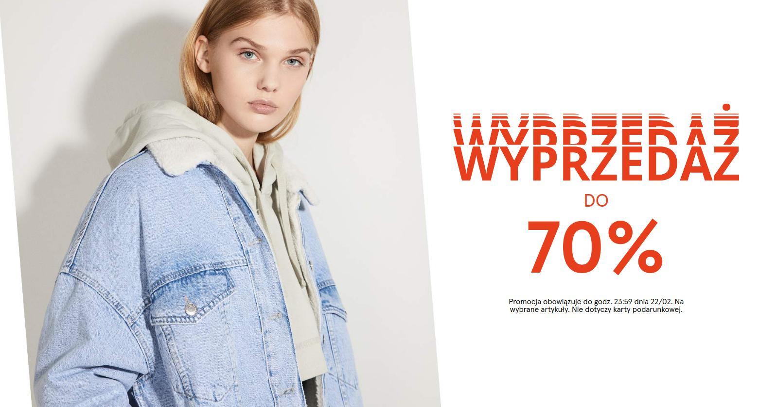 Bershka Bershka: wyprzedaż do 70% zniżki na odzież i akcesoria damskie