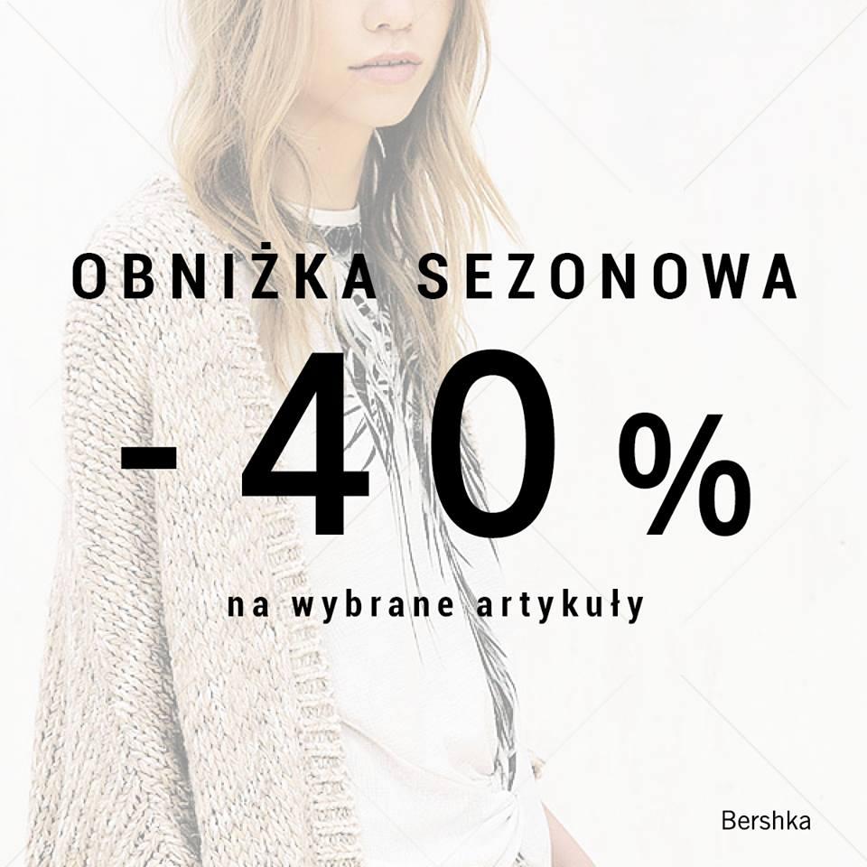 Bershka: 40% zniżki na wybrane artykuły
