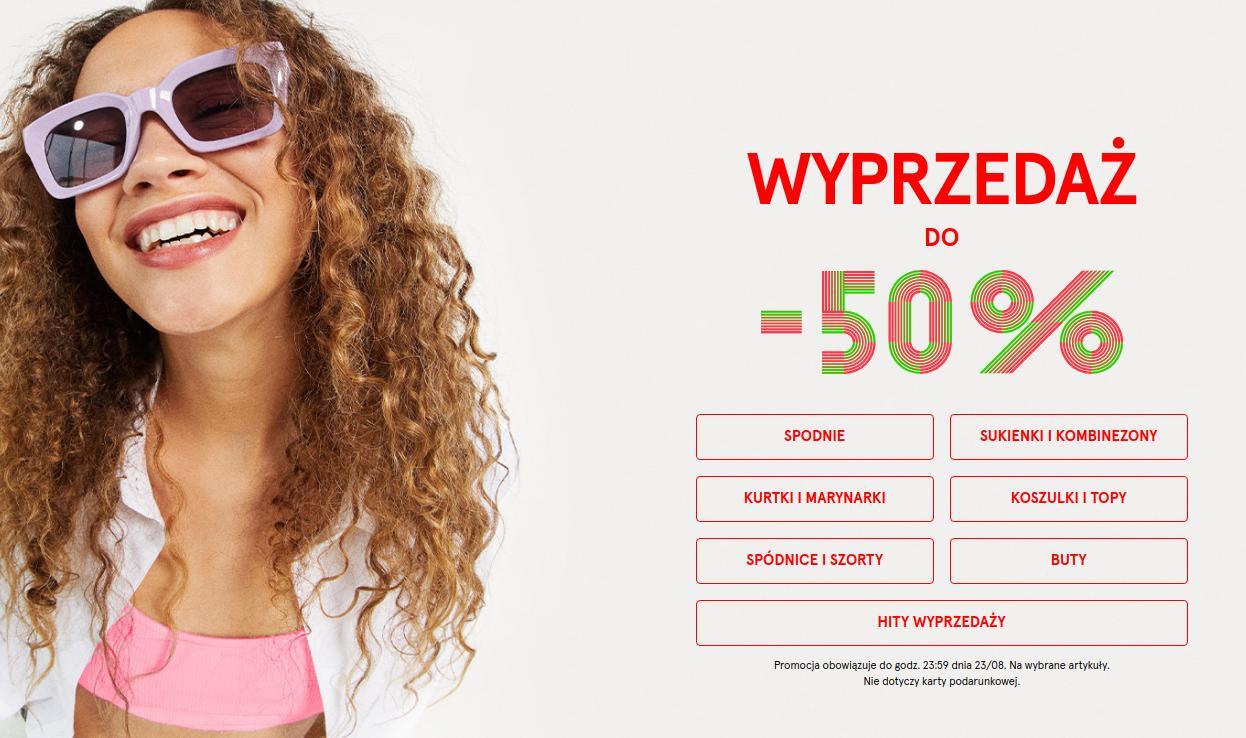 Bershka Bershka: wyprzedaż do 50% rabatu na odzież, obuwie oraz akcesoria damskie