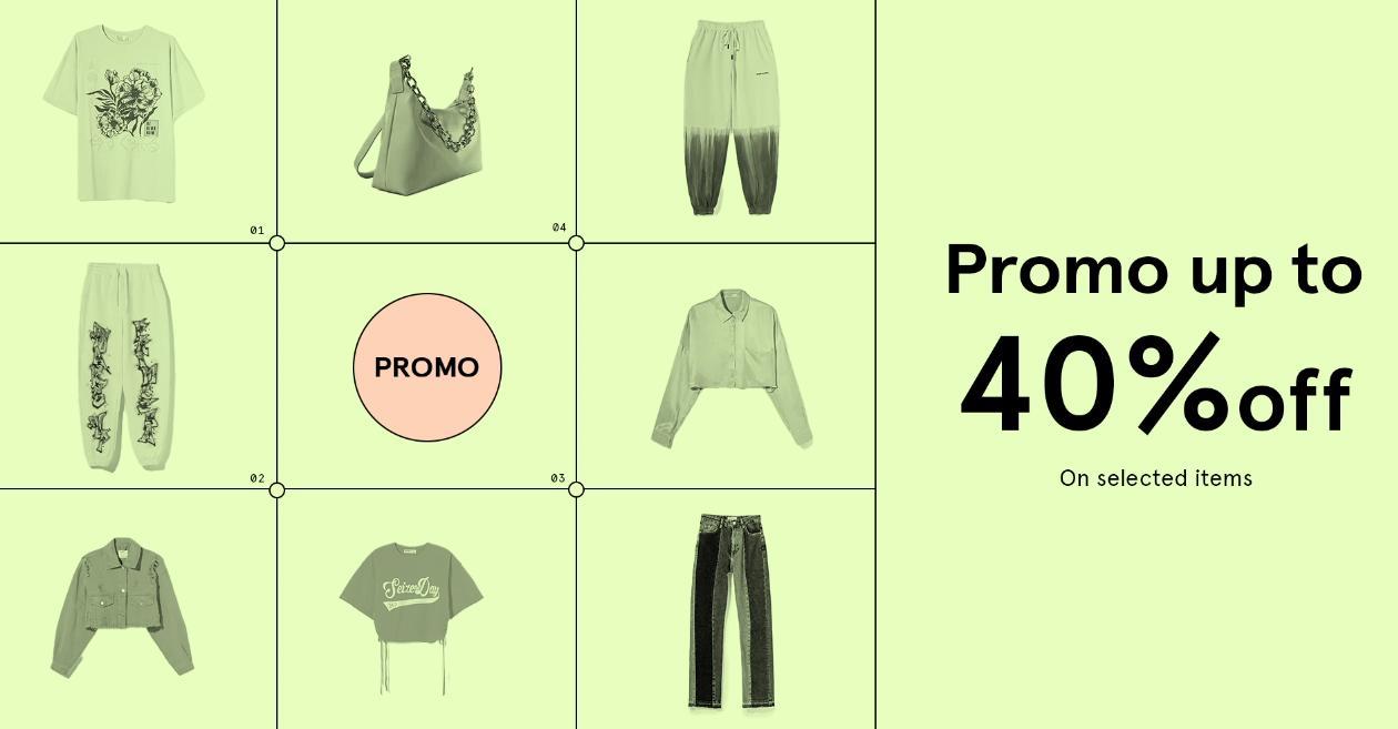 Bershka Bershka: do 40% zniżki na odzież damską oraz męską