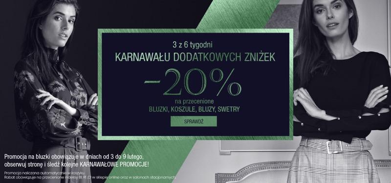 Bialcon: 20% rabatu na bluzki, koszule, bluzy i swetry damskie