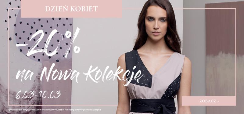 Bialcon: 20% rabatu na nową kolekcję odzieży damskiej z okazji Dnia Kobiet
